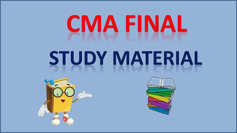 cma final study material